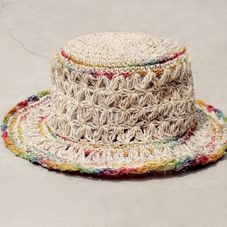 Valentine's Day gift limited to a hand-woven cotton / cotton hat / hat / fisherman hat / straw hat / straw hat - a rainbow in the heart