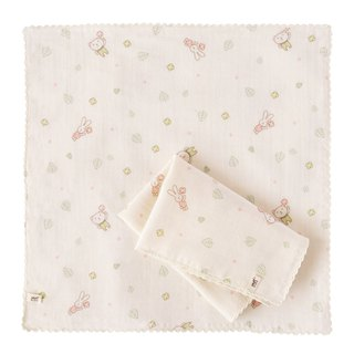 【SISSO organic cotton】 give you a small flower gauze handkerchief towel (two into)