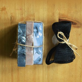 Summer soap set: Black wave +Lavender  +Dead Sea mud soaps