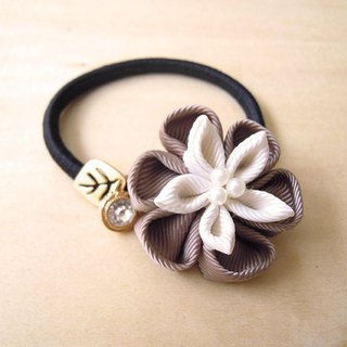 RARAPUPU Ribbon Flower Hair Brown