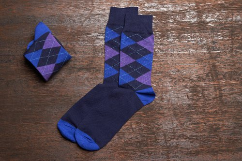 Lin Guoliang goods Scottish Ling Gentleman socks indigo