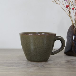 Sea cucumber green blue glazed coffee cup, teacup, mug, cup - about 140ml