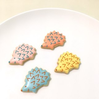 Happy Little Hedgehog Sugar Cookies 12 pieces (4 pieces each 3 pieces)