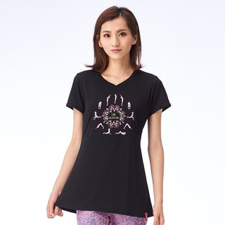 [MACACA] Japanese style cool bamboo stick love T - BST2321 black
