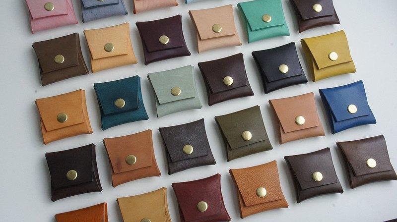 手工皮革- 方形零錢包 散銀包 Coins Bag Case 硬幣收納
