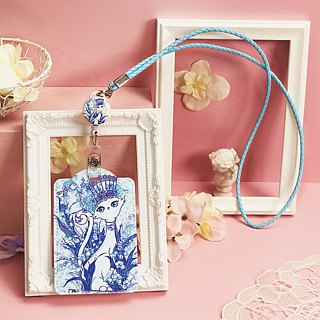 Hanging neck telescopic card holder/identification cat cat series-5 can be selected