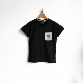[BestFriend] Nice Bear Pocket T-Shirt / 03-BLACK