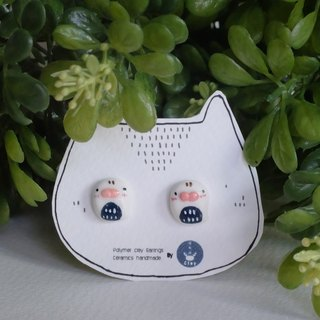 Seals polymer clay earrings