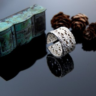 Lace walking silver ring - No. 7 (primary color live Wai)