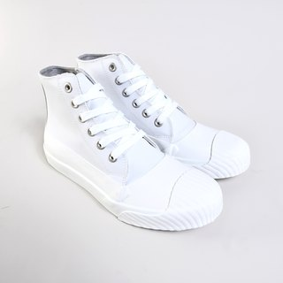 High tube casual shoes - KIM white