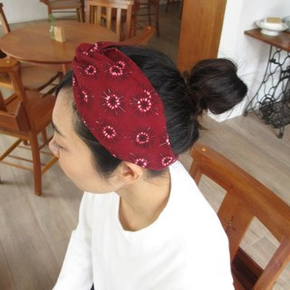 Cross Hair Band (Empty Handmade) - Burgundy Anemone
