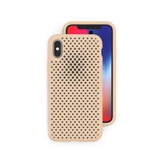 AndMesh iPhoneX/Xs Japan QQ network soft anti-collision protection cover - ivory 4571384958486