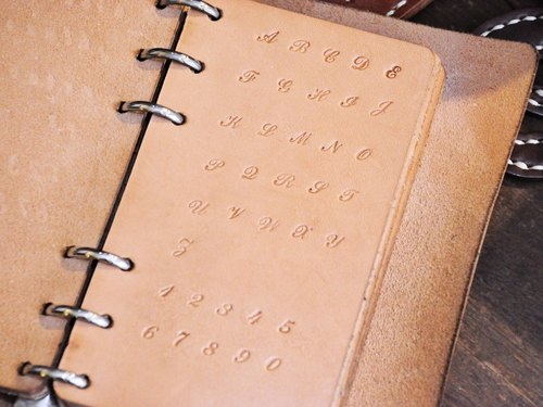 Classic Squatting with Digital Embossing Set (Gift Box) Letters Lamination Leather Lettering Impression Personalized Leather DIY