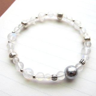 [Simple Implementation] Tiantie x Moonstone x 925 Silver - Handmade Natural Stone Series