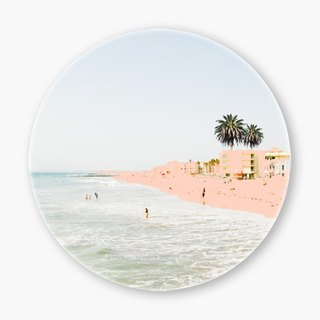 Snupped Ceramic Coaster - 陶瓷杯墊 - Pink Beach