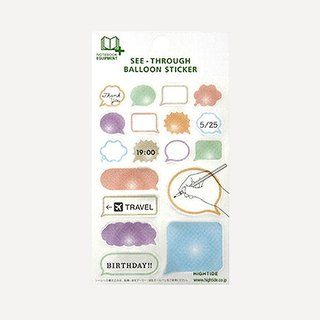 Transparent speech bubbles sticker · C
