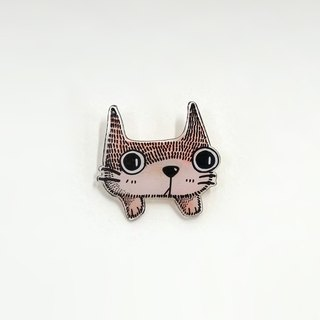 Honey, I miss the old narrow / old lady cat brooch pin