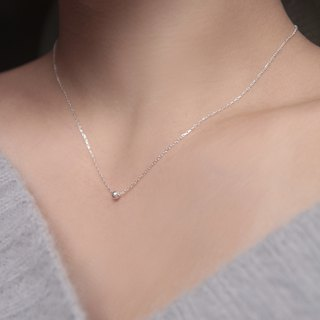 Simple and beautiful single 925 sterling silver sterling silver necklace