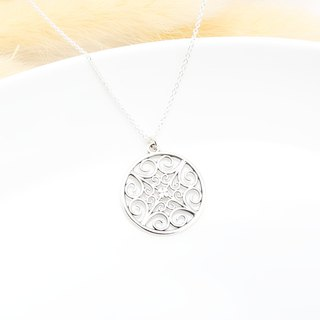 Song of Clover Filigree s925 sterling silver necklace Valentine's Day gift