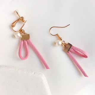 Handmade Earrings Earclips Rose Gold Series-pink limited
