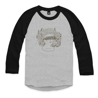 Pencil tusa - gray - gray / black - seven-point baseball T-shirt