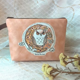 <Animals in the Secret Land> Owl under the starlight Clutch / Pouch
