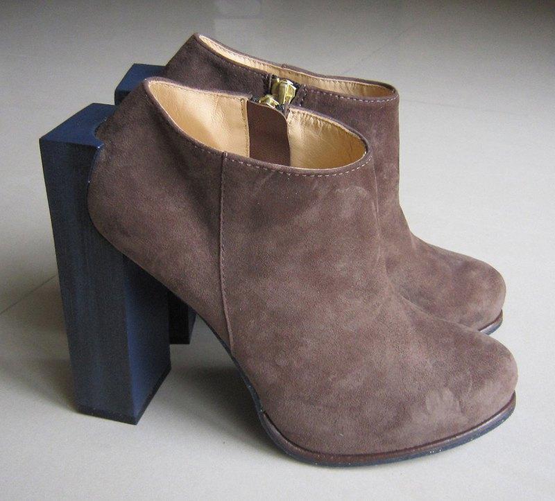 Maddison 灰褐色個性羊絨踝靴