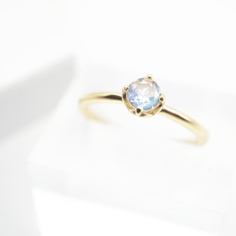 MOONSTONE RING ( SILVER/ 18K GOLD/ ROSEGOLD ) | MOONSTONE COLLECTIO