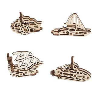 /Ugears/ Ukrainian wooden model hand itchy series - hand itchy boat set