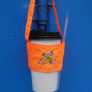 Kappa bag walking back can be embroidered in English name environmental protection beverage bag