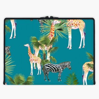 Axis - Custom 3-Sided Zipper Laptop Sleeve - Africa