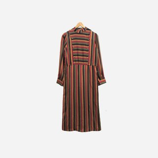Dislocation vintage / Straight horizontal striped dress no.408 vintage