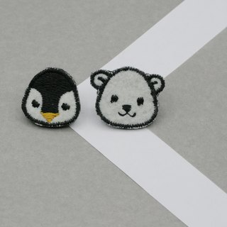 Arctic Set Iron Patch (Penguin and Polar bear, set of 2)