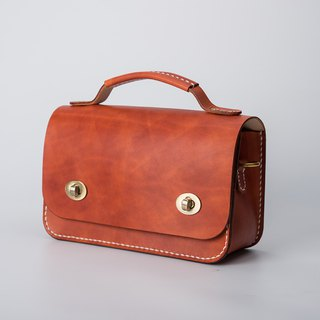[Cutline] small eyes handmade leather small briefcase handbags shoulder Messenger bag small square bag clutch bag