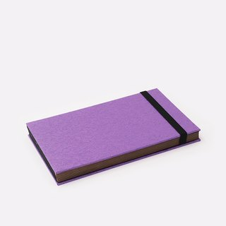 Three summer light years classic solid color strap books section DIY album creative gifts small rectangular (purple)