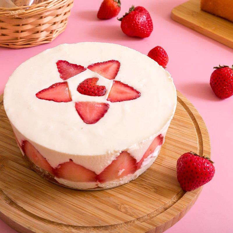 濃情草莓生乳酪蛋糕/生酮甜點/草莓季