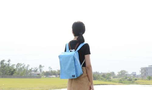 ::Bangstree:: Canvas Backpack- Sky blue