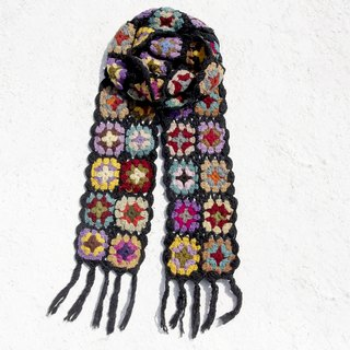 Exchange gifts Christmas market set limit a hand hook woven wool scarves / flowers hook woven scarves / hook woven scarves / hand woven scarves / flowers woven stitching wool scarves - Eastern European forest wind flower scarves