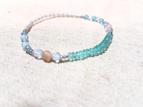 crystal in dearsharka || Light Blue Apatite x Orange Moonstone x Blue Moon Moonstone Clear Blue Clear Sea Beauty