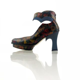 Bloom  (Floral fabric handmade leather shoes)