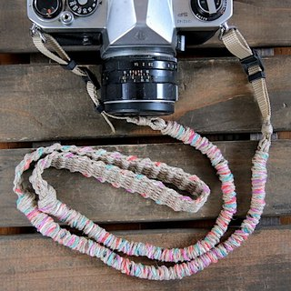 MIX hemp hemp camera strap colorful / belt