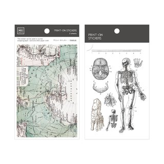 [Print-On Stickers] | Retro Series 16 - Popular Science Archaeology | Pocket, DIY Friends