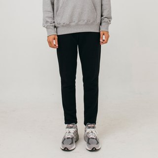 Hao Black Cotton Pants black cotton pants