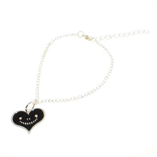 """Heart dream brand"" dream heart handmade metal jewelry series - Black Smile Love Bracelet"