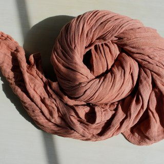 brown collagen shawl with natural dye