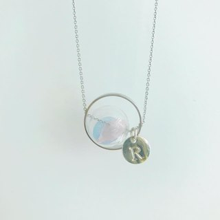No withered planet pink pink blue glass beads letter sisters gift boudoir gift birthday gift necklace necklace necklace necklace gift Preserved Flower Planet Glass Ball Necklace