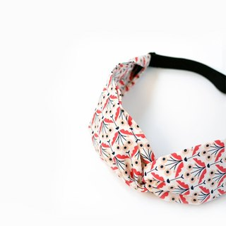Nordic orange red flower adjustable cross narrow version elastic band