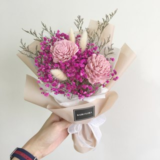 Temperament classic pink starry bouquet bouquet dry bouquet / dry flower / Valentine's Day / graduation / birthday