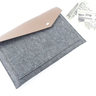 [Customizable] Original handmade dark gray felt felt sleeve protective sleeve computer bag laptop computer bag Apple Hewlett-Packard, Dell, Acer, Toshiba Samsung Asus Lenovo laptop protective sleeve Apple Dell Acer HP Toshiba Samsng Asus Lenovo (can be tai