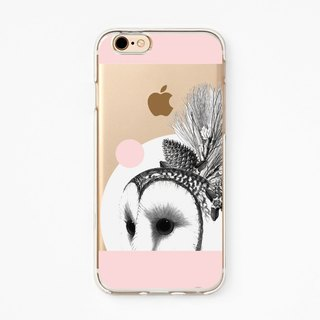 iPhone Case - Gorgerous Barn Owl for iPhones - Clear Flexible Rubber TPU case